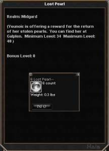 Lost Pearl    Items    Dark Age of Camelot    ZAM Picture for Lost Pearl