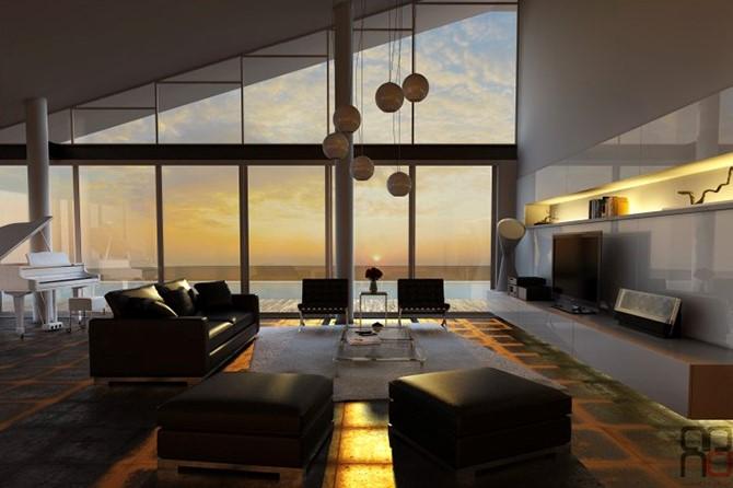 Retro Futuristic Interiors Modern Designer Furniture And