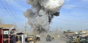 Ataque suicida praticado por insurgentes do Talibã no Norte do Afeganistão – Foto: Reuters