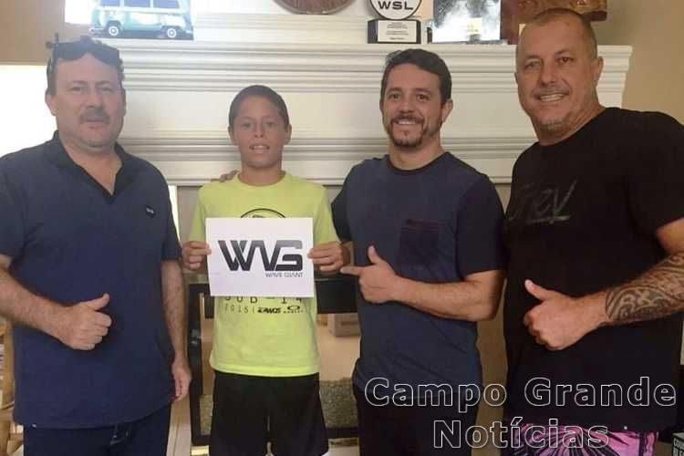 Mateus Lima com Edimilson, Valter e Ricardinho – Foto: Divulgação