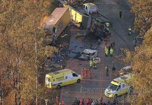 Acidente na Rodovia BR-040, próximo a Itabirito (MG), causa a morte de pelo menos 3 pessoas – Foto: TV Globo/Reprodução