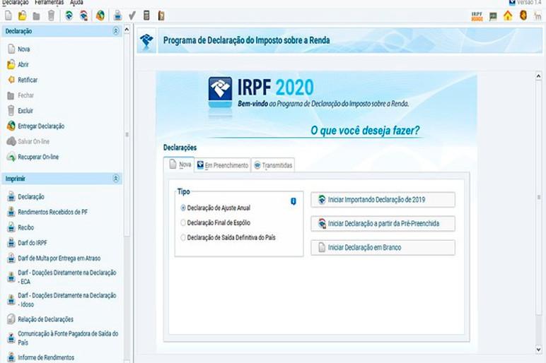 Tela do aplicativo da Receita Federal (Foto: Divulgação)