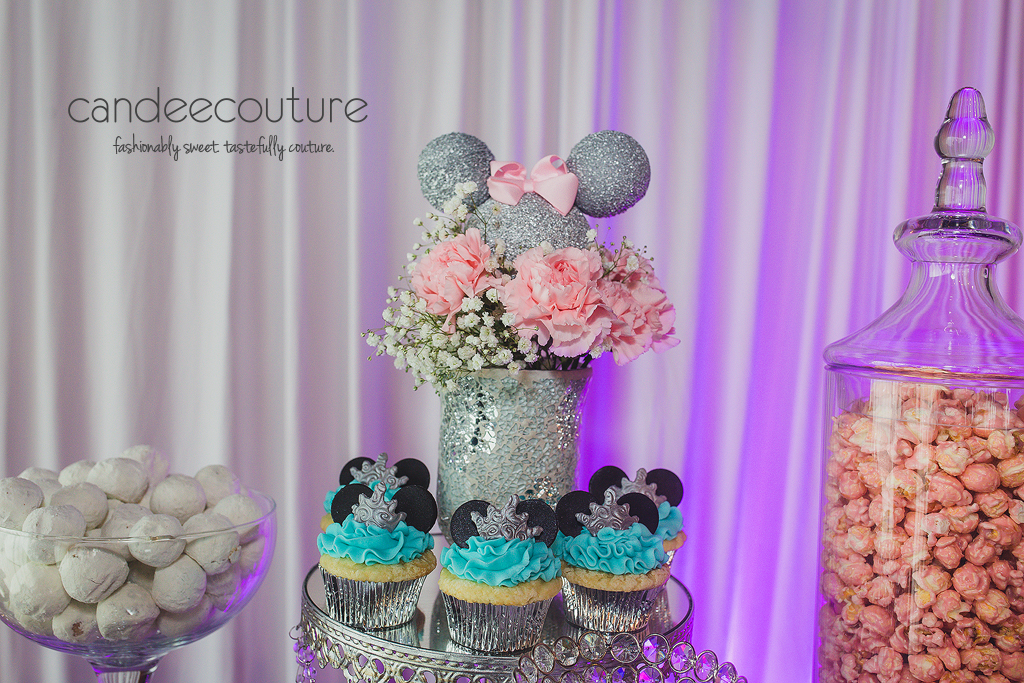 Minnie Mouse Winter Wonderland Dessert Table Candee Couture