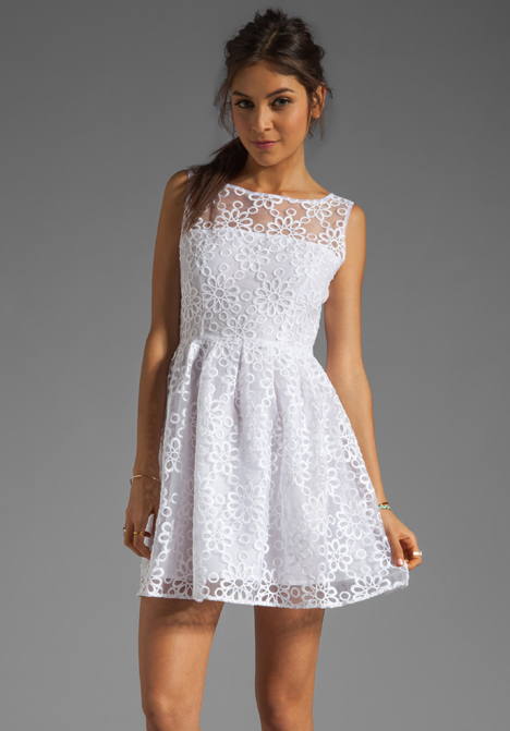 White Pulitzer Lilly Dress Lace