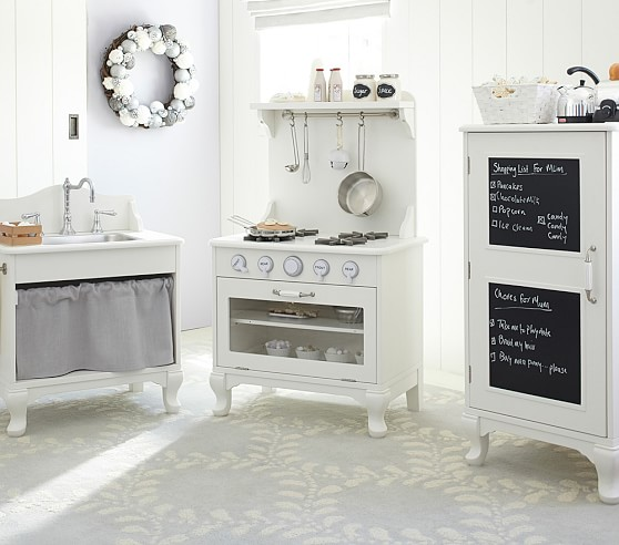 White Retro Kitchen Pottery Barn