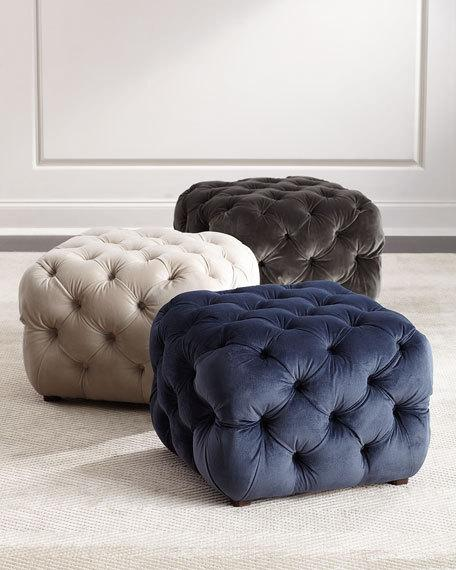 Navy Blue Chair And Ottoman