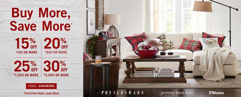 2017 Pottery Barn Buy More Save More Sale  Furniture  Holiday  Home     2017 Pottery Barn Buy More Save More Sale  Furniture  Holiday  Home Decor  Up To 30  Off