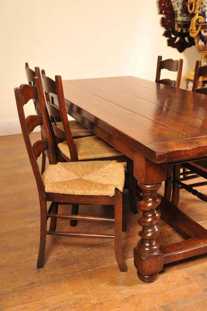 Ladderback Chairs Amp Refectory Table Kitchen Set Dining