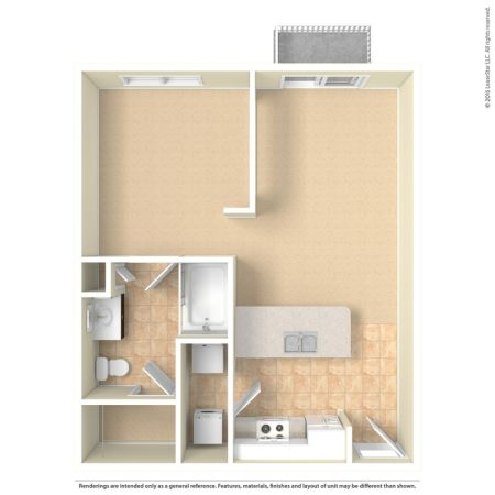 Floor Plans at City North Apartments in North Dallas 2D Diagram  3D Furnished  3D Unfurnished