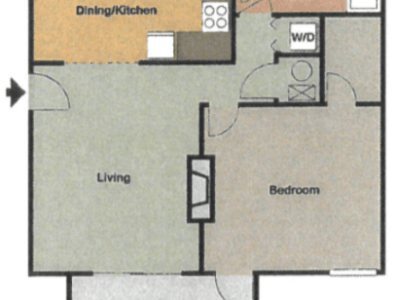 Spacious 1 and 2 Bedroom Apartment Homes   Legacy at Norcross 2D Diagram
