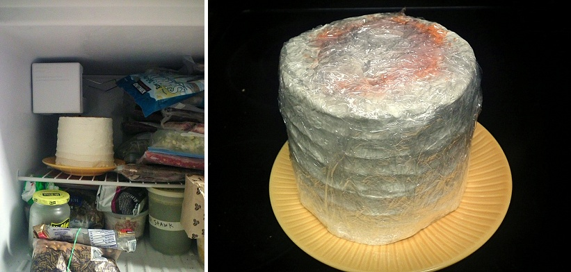 How to Freeze Your Wedding Cake  So You Can Actually Eat it On Your     how to freeze your wedding cake  4