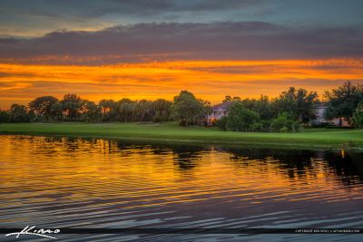 Homes at Abacoa Golf Course Sunset