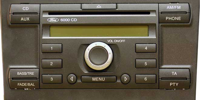 Ford Fiesta Stereo Code