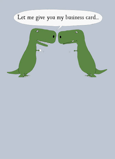 Business Greeting Cards  Funny Cards   Free postage included TRex Business Card