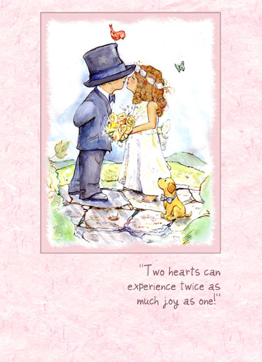 Wedding Cards  Funny Cards   Free postage included Two Hearts