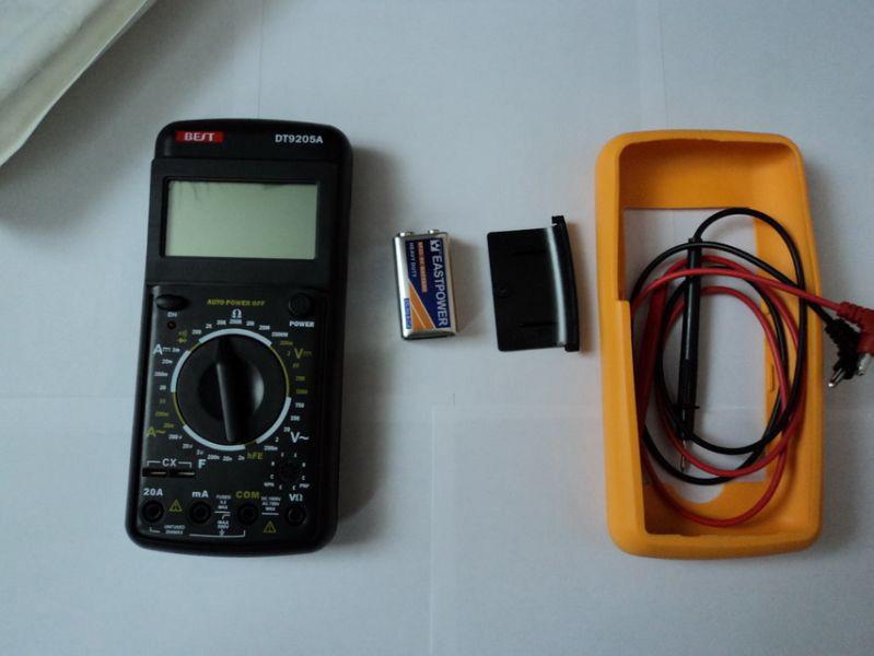 Multimetro e batteria