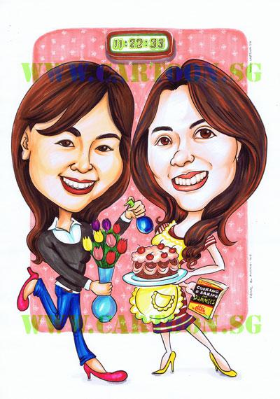 Birthday Moment For A Best Friend Cartoon Sg Singapore