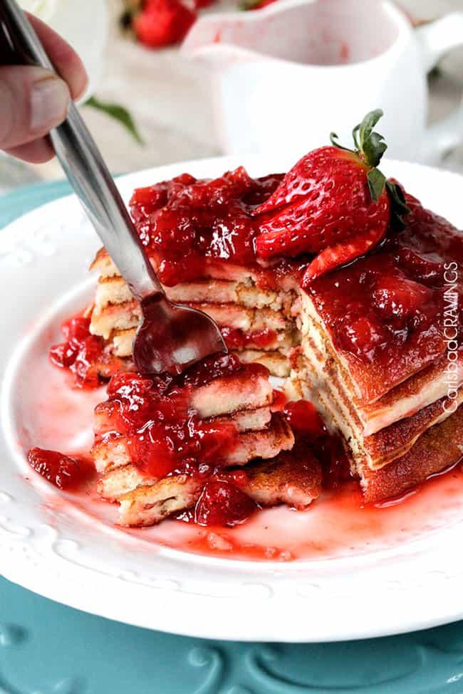 Strawberry Cheesecake Pancakes Carlsbad Cravings