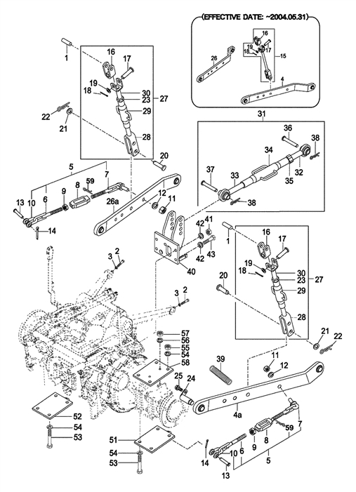 Tractor 3 Point Hitch Diagram