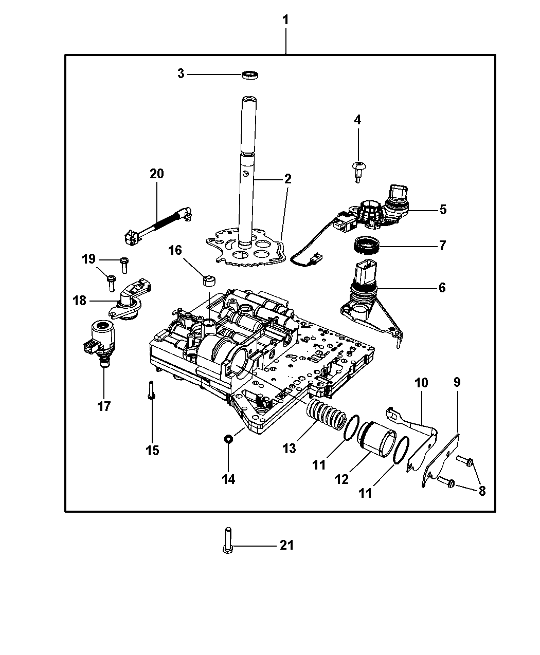 Valve body related parts for 2008 chrysler town country within chrysler town