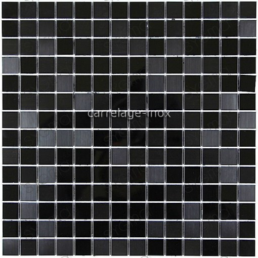 carrelage inox mosaique inox credence faience MIROIR NOIR MIX     carrelage inox miroir mosaique faience MIROIR NOIR MIX