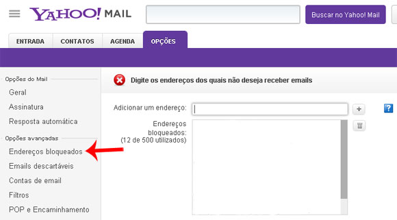 Como bloquear um e mail no yahoo mailgmail e outlook bloquear email yahoo 2 stopboris Image collections