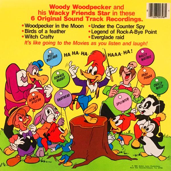 """Woody Woodpecker"" Cartoon Soundtracks on Records"