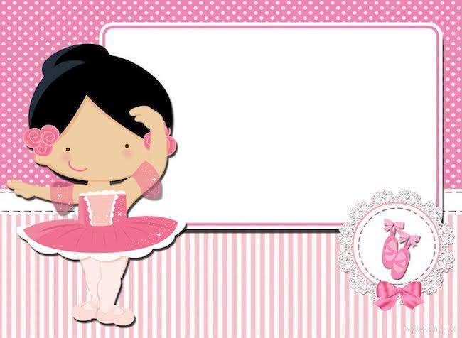 Vintage Ballerina Baby Shower Invitation