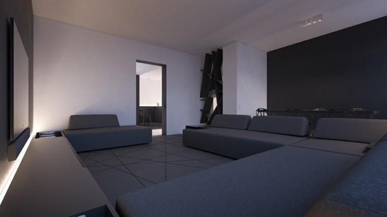 Decoraci 243 N De Interiores Modernos En Gris Y Blanco