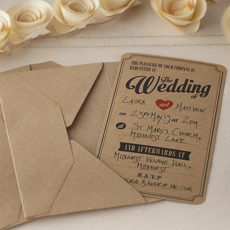 Unique Country Wedding Invitations