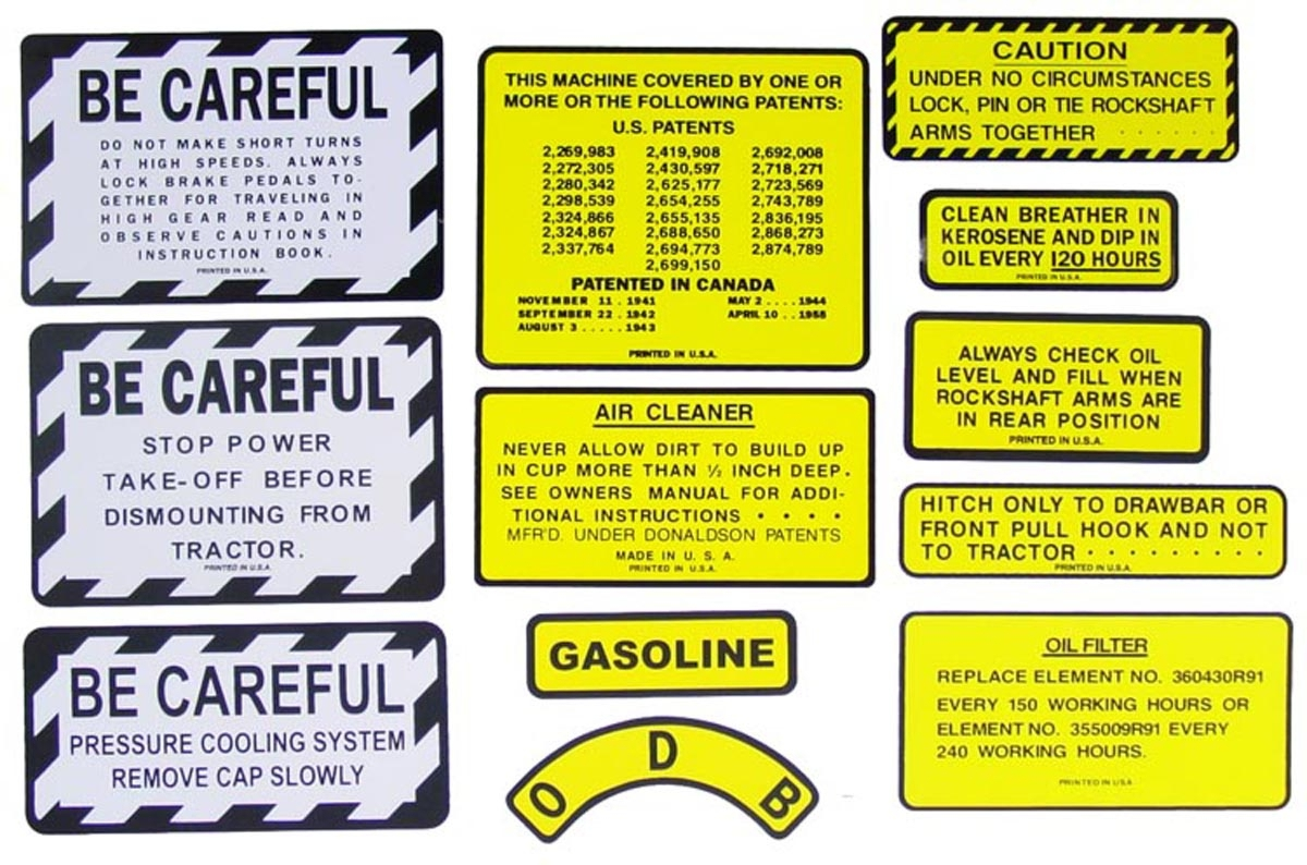 Decal Case 530 Set Tractor