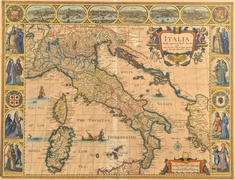 Lot 233  J  Speed 1626 Map of Italy plus Swiss Map