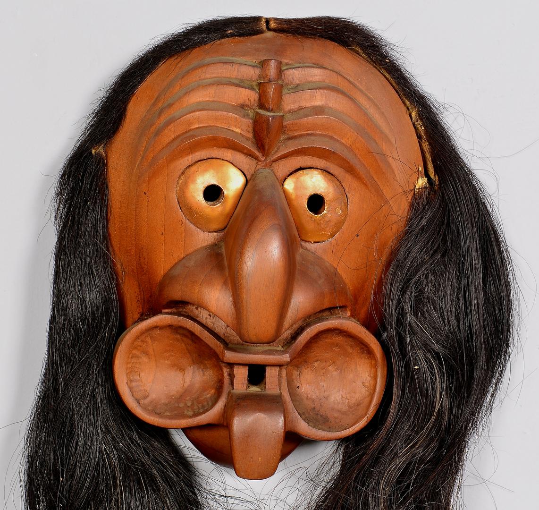 Lot 809 2 Native American Carved False Face Masks