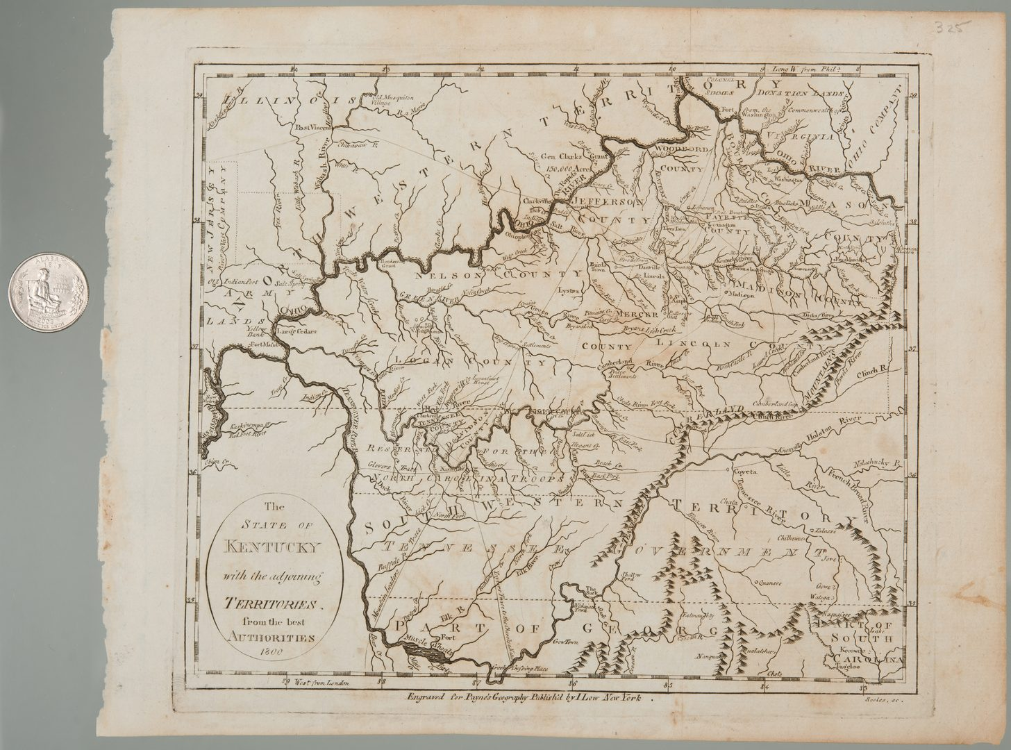 Lot 208  Kentucky Map  1800 Payne