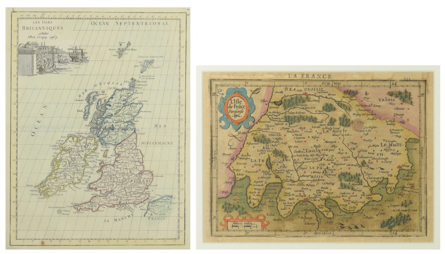 Lot 210  2 Early Maps  Britain and France