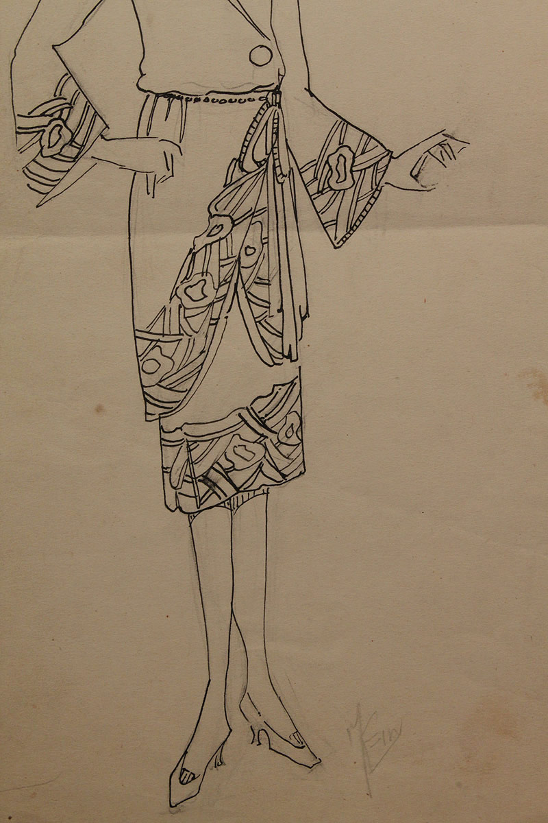 Lot 411 Collection Of 1920 S Pencil Amp Ink Fashion Drawings