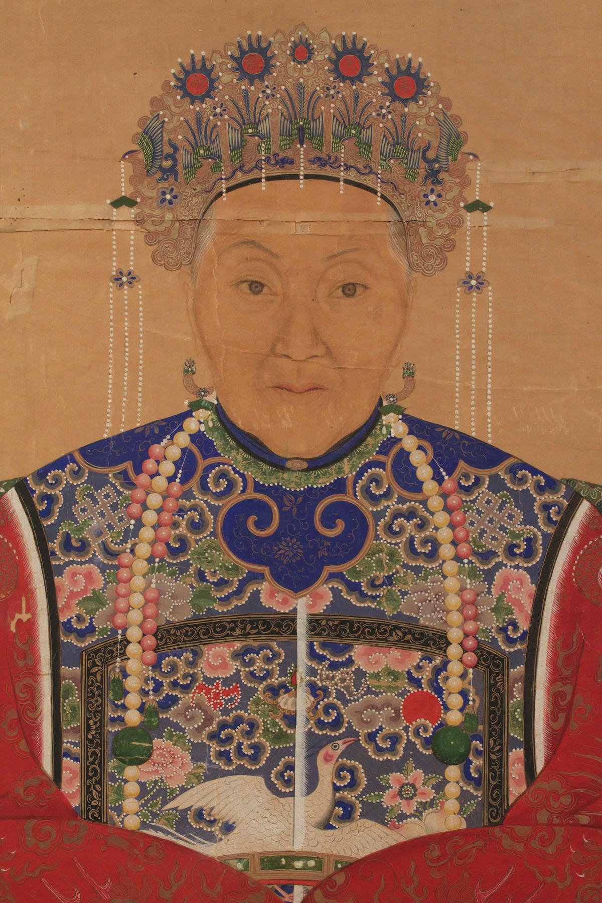Lot 418 Chinese Ancestor Portrait