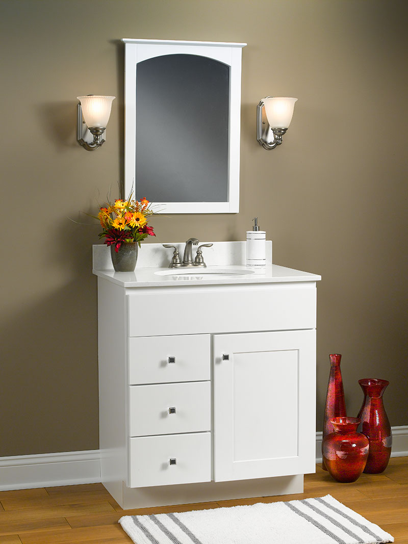 Dartmouth White Vanity Cabinets Castle Wholesalers