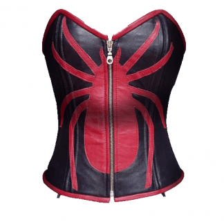 Black Leather Corset, Red Spider Cardigans for Women