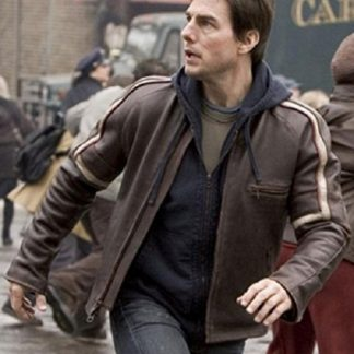 Original Leather Jacket of Tom Cruise in War of The Worlds Movie
