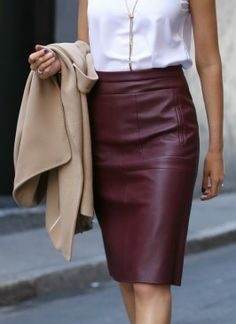Beautiful Rusty Original Leather A-Line Skirt
