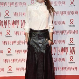 Original Leather Full Skirt of Ana Girardot