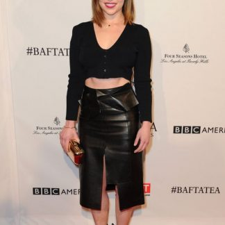 Perfect Leather Midi Skirt of Emilia Clarke