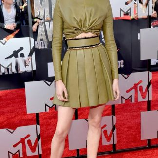 Shailene Woodley Pleated Skirt