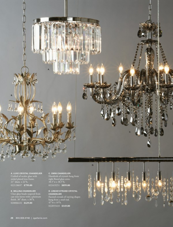 linear strand crystal chandelier z gallerie # 3