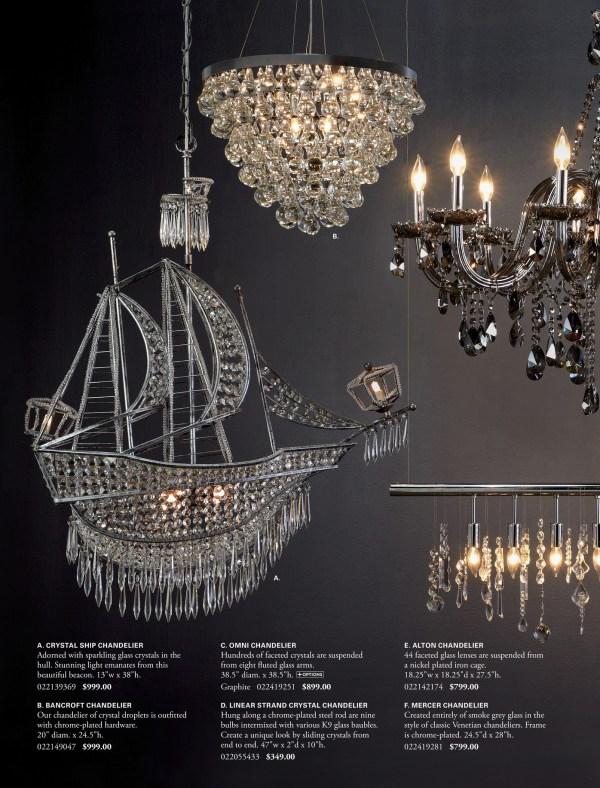 linear strand crystal chandelier z gallerie # 14