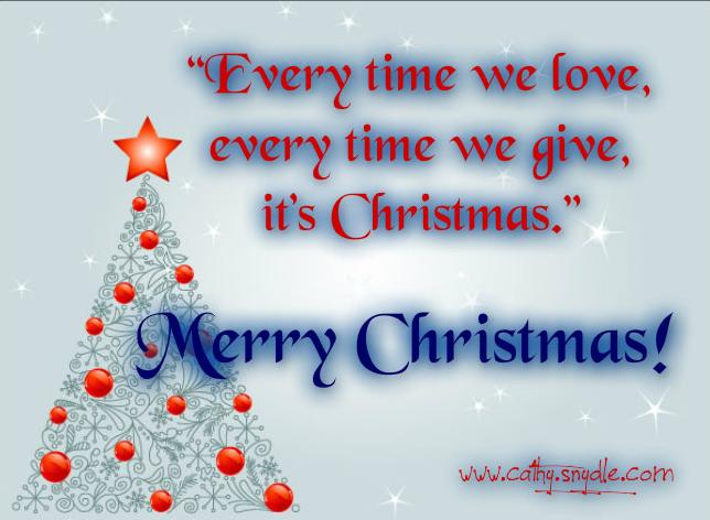 Cute Christmas Quotes - Cathy