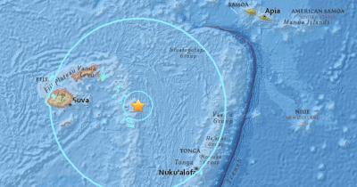 8.2 earthquake strikes off the coast of Fiji, small ...
