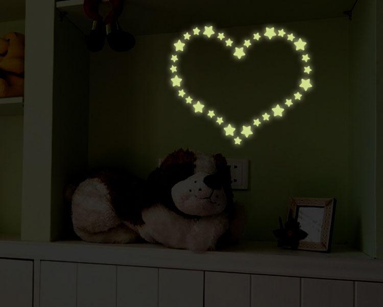 自粘墙贴 厂家热销 可移除自粘墙贴 发光小星星夜光贴 荧光贴 Y0033 阿里巴巴