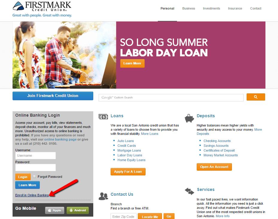 First School Credit Online Union Banking